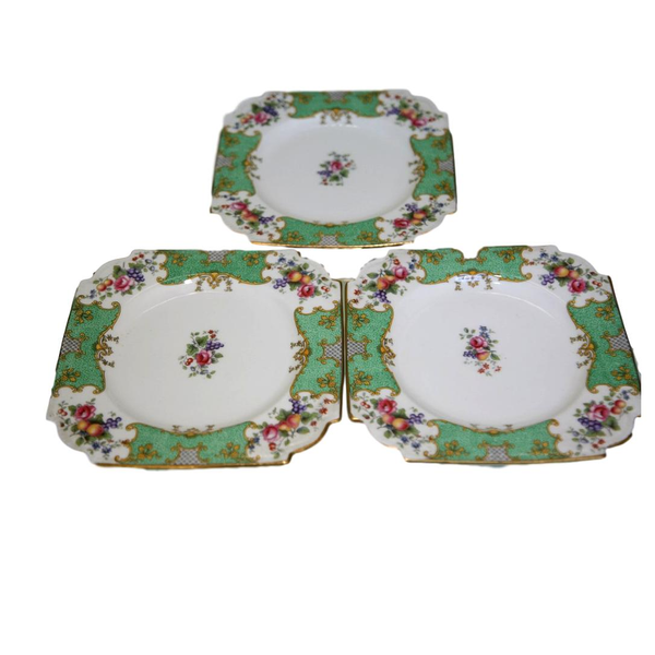 Square Green Dessert Plates