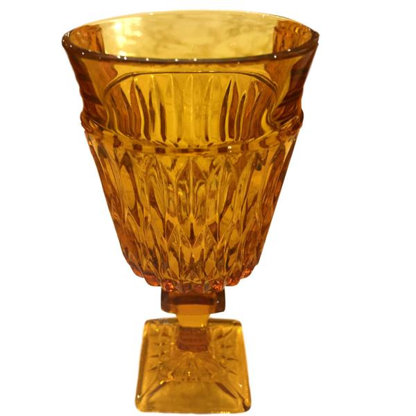 Vintage Amber Goblets - Mixed Patterns