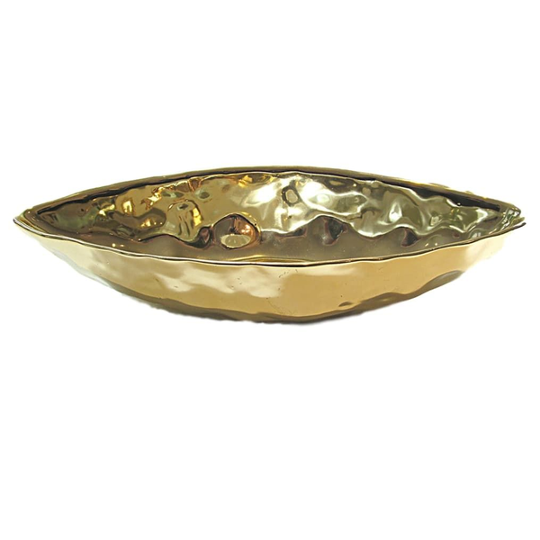 Brilliant Gold Oblong Centerpiece Containers