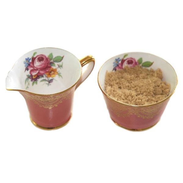 Coral Cream & Sugar Set