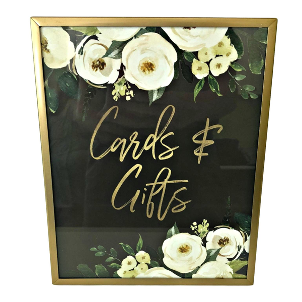 """Gold Framed """"Cards & Gifts""""  8"""" x 10"""""""