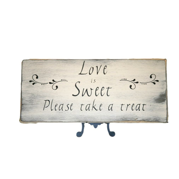"""Dessert Table Sign """"Love is Sweet"""""""