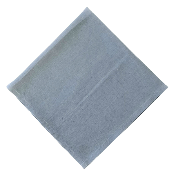 """Stonewashed Linen Napkins """"Blue Grey"""""""