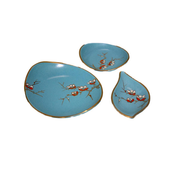 Retro Blue Snack Dishes