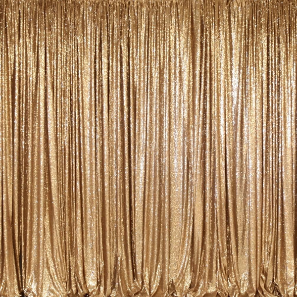 Example of our Gold Sequin Backdrop Service