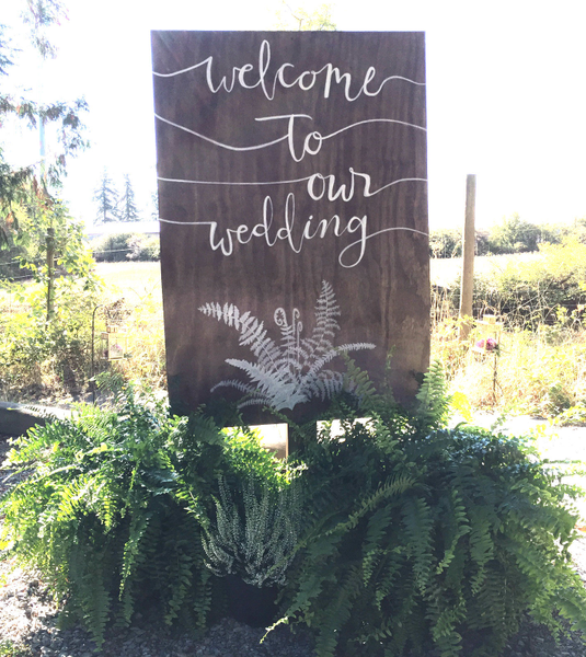 Welcome To Our Wedding Sign Post