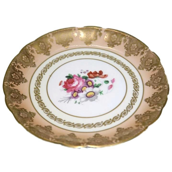 """""""Peaches"""" Cake Serving Plate"""