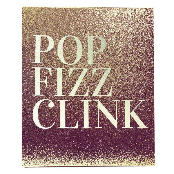 """""""Pop Fizz Clink"""" Canvas Frame"""