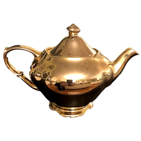 Vintage Gold Teapot