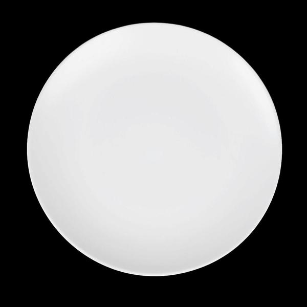 "Matte White Stoneware Medium 8.5"" Medium Plates"