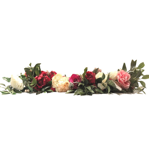 "3' ""Merlot"" Faux Floral Garlands"