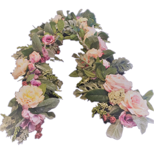 """6' """"Lovely""""  Faux Floral Garland"""