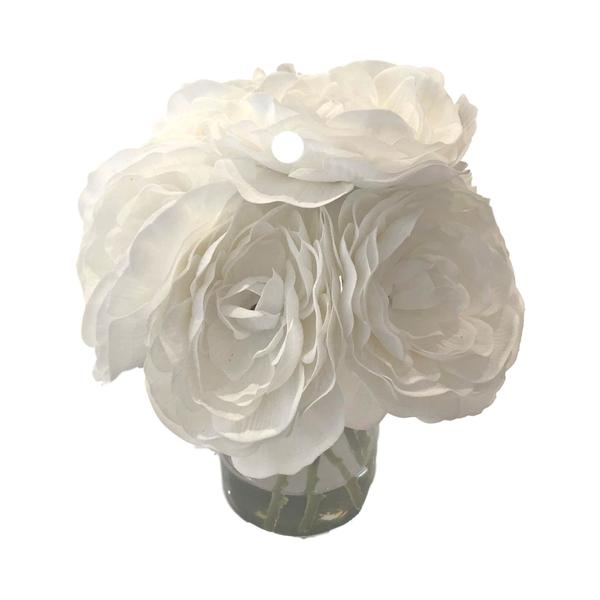"""""""Medium"""" Warm White Flower Collection"""