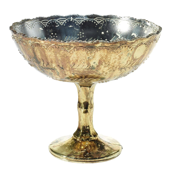 """""""Desiray"""" Gold Compote Vase"""