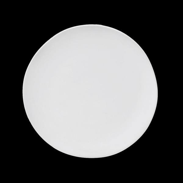 "Matte White Stoneware 6"" Small Plates"