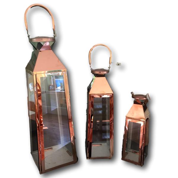 Set of 3 Copper Lanterns