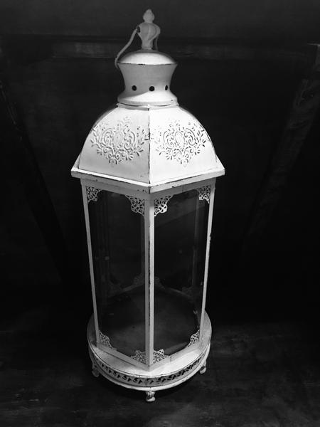 Victorian White pewter lantern