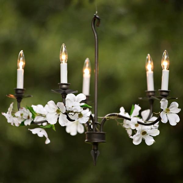 five light black chandelier