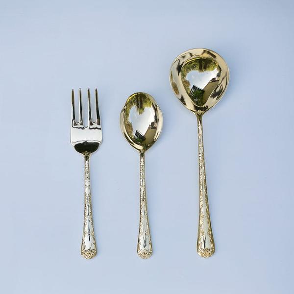 baroque serving salad forks