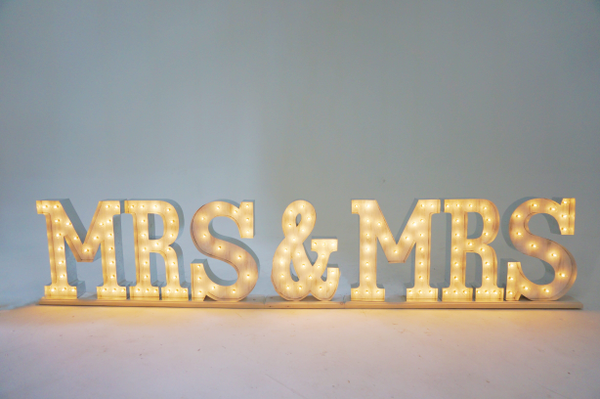 MRS & MRS marquee