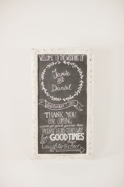 xl white ornate frame chalkboard