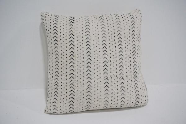 white mud cloth pillow #9