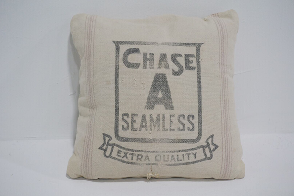 grain sack pillow #4