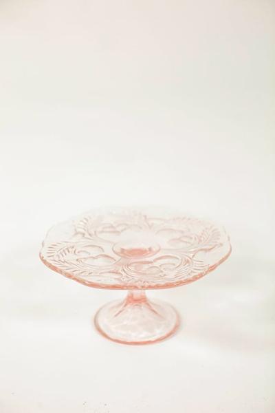 """8"""" round pink cake stand"""