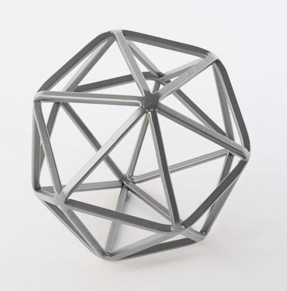 silver octohedron - large