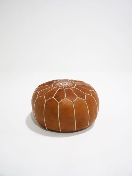 sydney moroccan pouf - tan