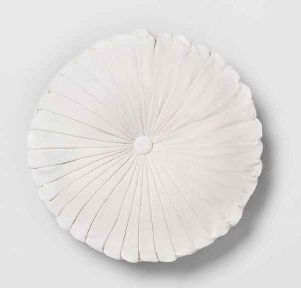 round white velvet pillow