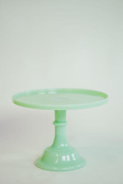 """12"""" jadeite cake stand"""
