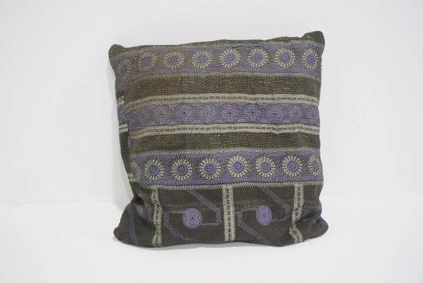 boho kantha pillow #3