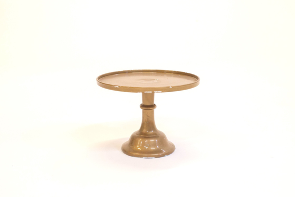 """12"""" gold cake stand"""