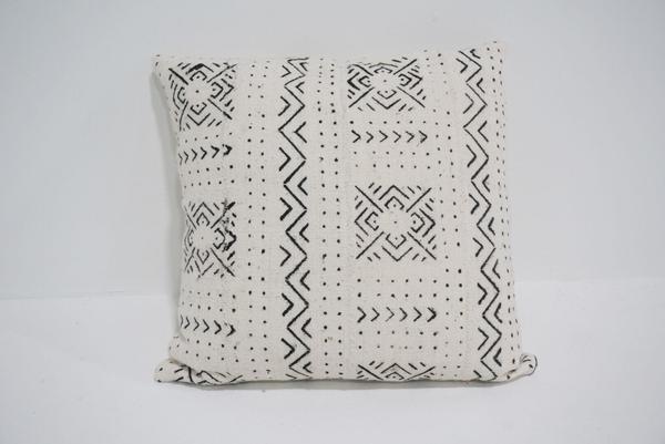 white mud cloth pillow #2