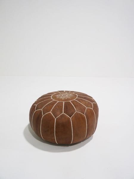 sydney moroccan pouf - brown