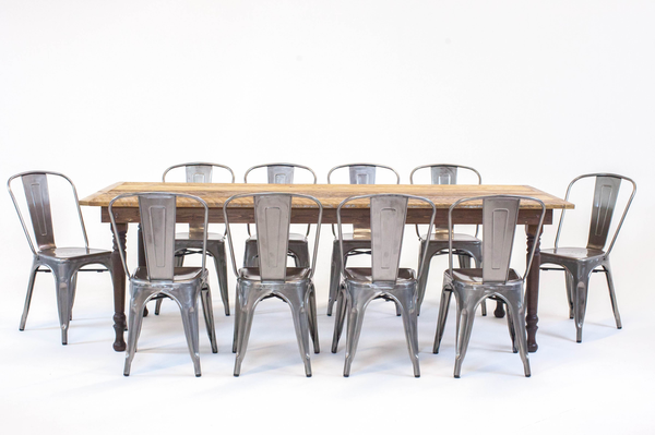 thompson farmhouse dining series: remington metal chairs