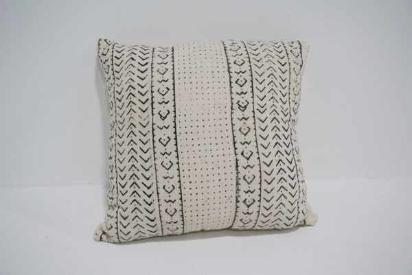white mud cloth pillow #6