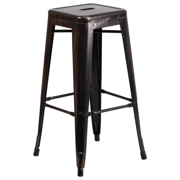 black remington bar stool