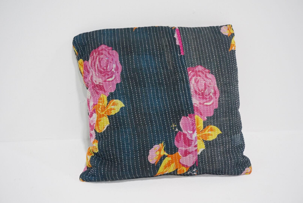 boho kantha pillow #9