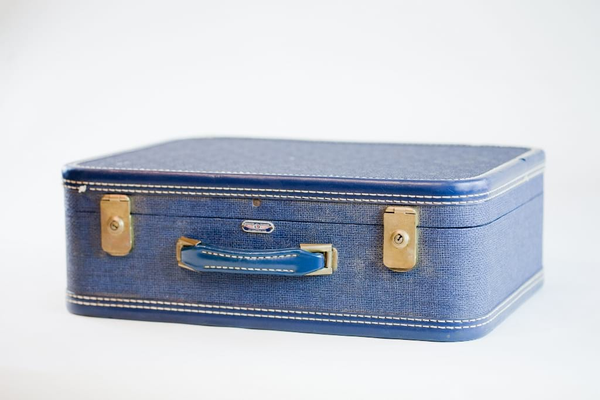 royal blue suitcase