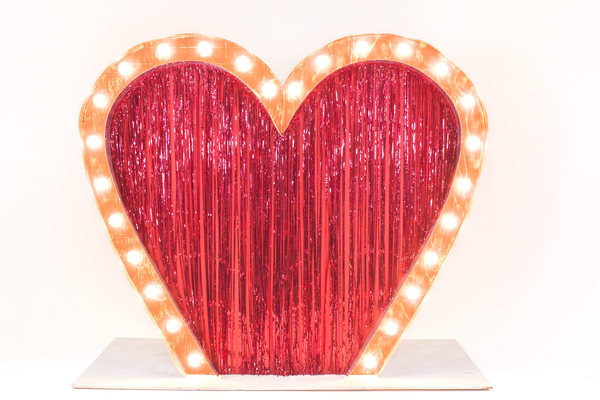 giant marquee heart