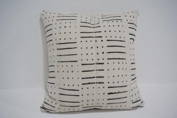 white mud cloth pillow #5