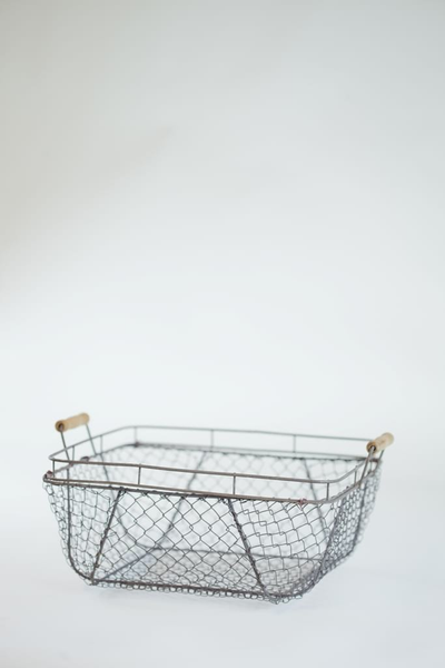 square chicken wire basket