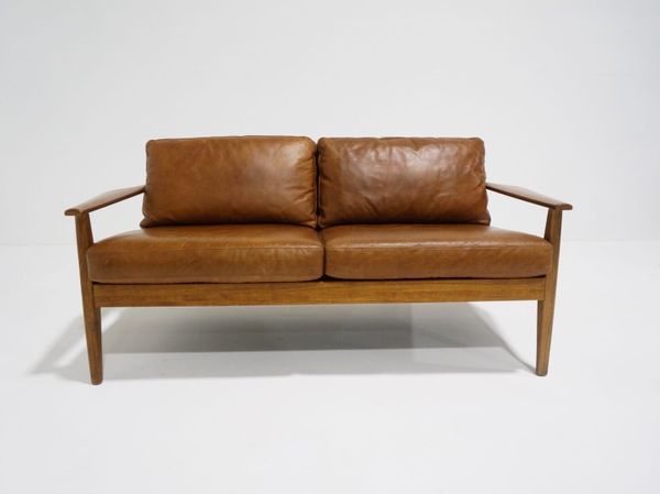 wyatt leather small sofa