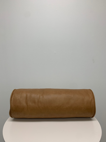 leather bolster pillow