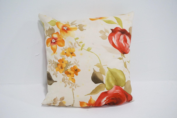red floral pillow #1