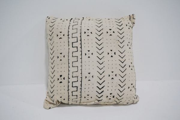 white mud cloth pillow #3