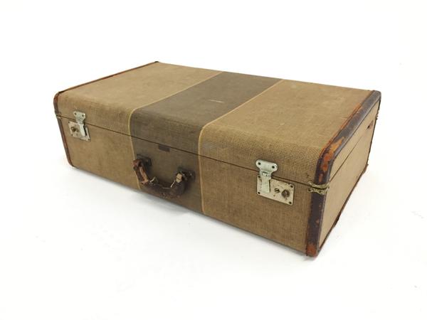 crown beige suitcase