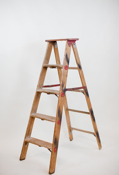5' wood A-frame ladder